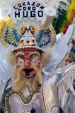 典型玻利维亚的舞蹈演员 免版税库存图片