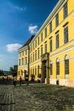 典型的五颜六色的布达佩斯大厦 库存照片