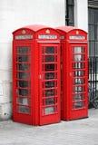 典型的伦敦红色电话亭 库存照片