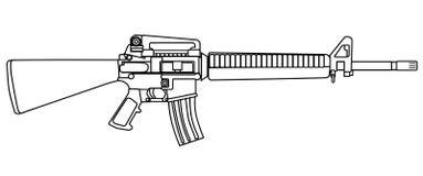 典型的军队步枪 库存图片