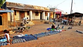 典型的农村马拉维村庄 库存照片