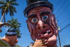 典型的化妆舞会游行在哥斯达黎加 免版税图库摄影