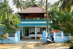 典型的印地安人喀拉拉议院 免版税库存照片