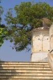典型的印地安路在古城 免版税库存图片