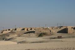 典型的叙利亚荒废村庄 免版税库存照片