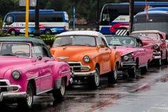 典型的古巴出租汽车 免版税库存照片