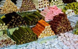 典型的土耳其快乐糖 免版税库存照片
