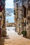 典型的大厦在马耳他 免版税库存图片