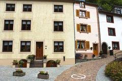 典型的大厦在Vianden,卢森堡 免版税库存照片