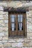 典型的安达卢西亚的窗口在宇部一个传统房子里  免版税图库摄影