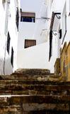 典型的家在安达卢西亚的白色村庄 免版税图库摄影