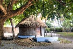 典型的小屋在Vilanculos在莫桑比克 免版税库存图片
