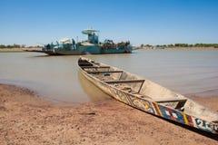 典型的小船, Djenné,马里,非洲。 免版税库存照片