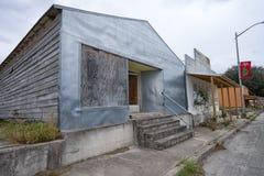 典型的小镇建筑学在得克萨斯 免版税库存照片