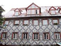 典型的巴法力亚房子,菲尔特,德国 免版税库存图片