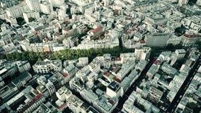 典型的巴黎都市风景,法国鸟瞰图  免版税库存图片