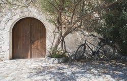典型的希腊房子 库存图片