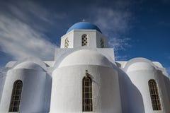 典型的希腊CHURC,圣托里尼 库存图片