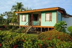 典型的当地加勒比房子 免版税图库摄影