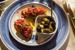 典型的意大利开胃菜 免版税图库摄影