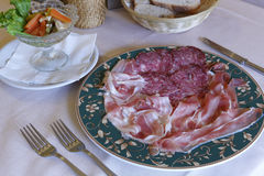 典型的意大利盘,曼托瓦,意大利 免版税库存照片