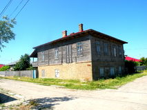 典型的房子在多瑙河三角洲的一个村庄 库存图片