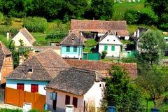 典型的房子在村庄Malancrav,特兰西瓦尼亚 库存照片