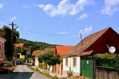 典型的房子在村庄Malancrav,特兰西瓦尼亚 图库摄影