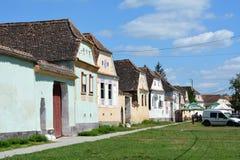 典型的房子在村庄Viscri,特兰西瓦尼亚 免版税库存图片