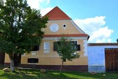 典型的房子在村庄Viscri,特兰西瓦尼亚 库存图片