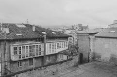 典型的房子在Vitoria 免版税库存图片