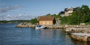 典型的挪威看法 免版税库存图片