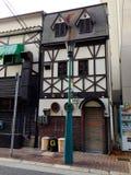 典型的日本建筑学在本町地区在神户 图库摄影