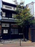 典型的日本建筑学在本町地区在神户 库存图片