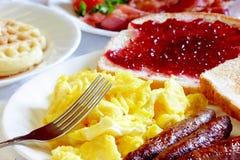 典型的早餐 免版税库存照片