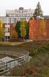 典型的机能主义大厦在Zlin,捷克共和国 免版税库存照片