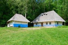 典型的村庄房子 图库摄影