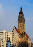 典型的柏林风景:老夏洛登堡Wilmersdorf rathaus 免版税库存图片