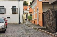 典型的欧洲胡同, Szentendre匈牙利 库存照片