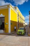 典型的殖民地街道在坎比其,墨西哥 库存图片