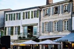 典型的法国餐馆 库存图片