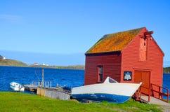 典型的渔夫村庄 库存照片