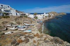 典型的渔村La Isleta del莫罗西班牙 免版税库存图片