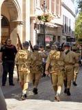 典型的游行直布罗陀 免版税库存照片