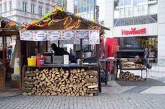 烹饪立场在布拉格 库存图片