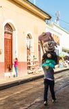 典型的看法在利昂尼加拉瓜 库存照片