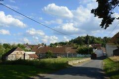典型的老村庄,捷克,欧洲 库存照片