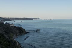 典型的舒展海岸在阿布鲁佐 库存图片