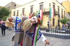 典型的舞蹈家在Gudalajara墨西哥 免版税库存照片