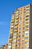 典型的苏联公寓楼 免版税图库摄影